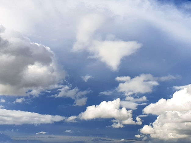 Clouds in the blue sky backgrounds