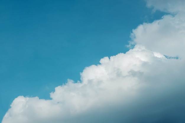 Clouds in the blue sky on sunny day