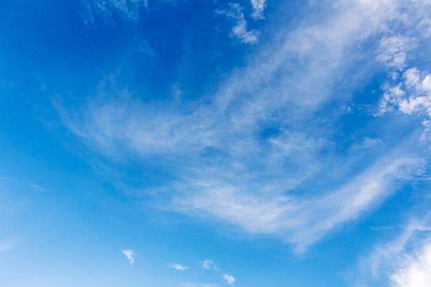 Clouds  the blue sky