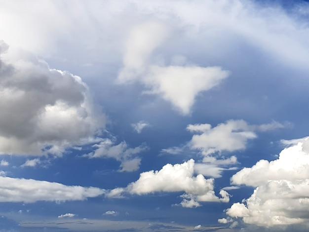 青い空を背景にした雲