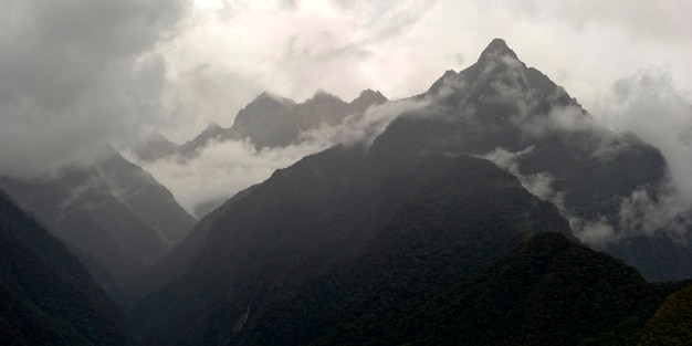 Clouds over a mountain range, sacred valley, cusco region, peru