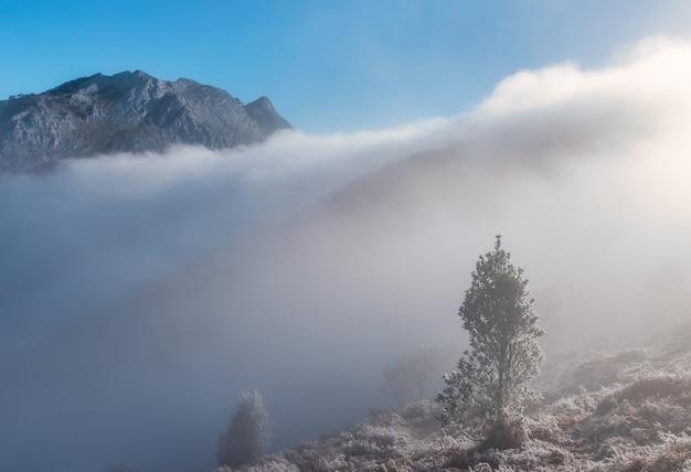Clouds in natural park of urkiola