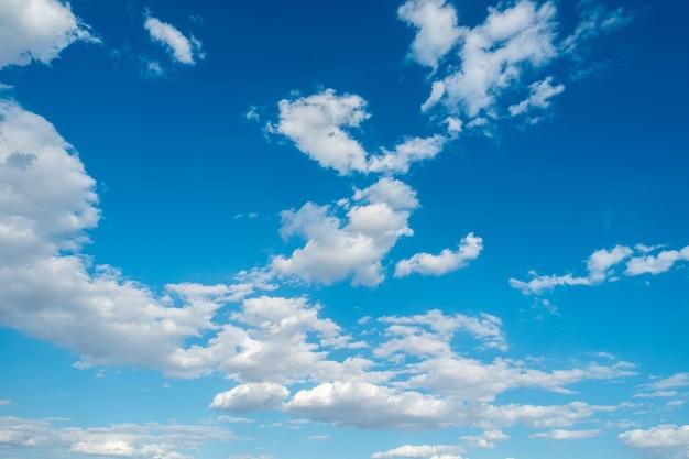 Clouds white blue sky fluffy windy weather daylight sunny