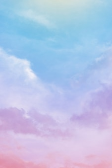 Clouds with pastel colors