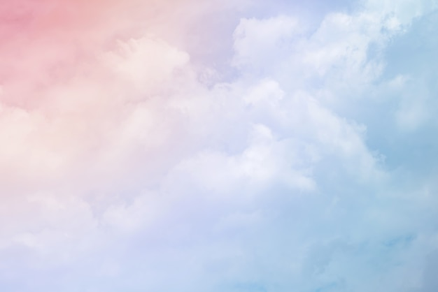 Clouds with a pastel colors