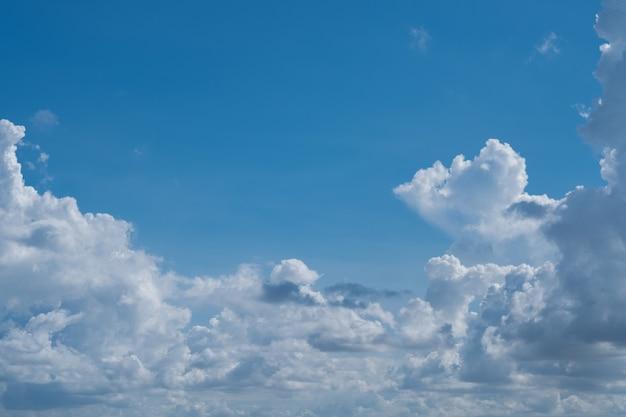雲景の背景、夏の時間、美しい空