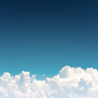Cloudscape , Blue sky and white cloud