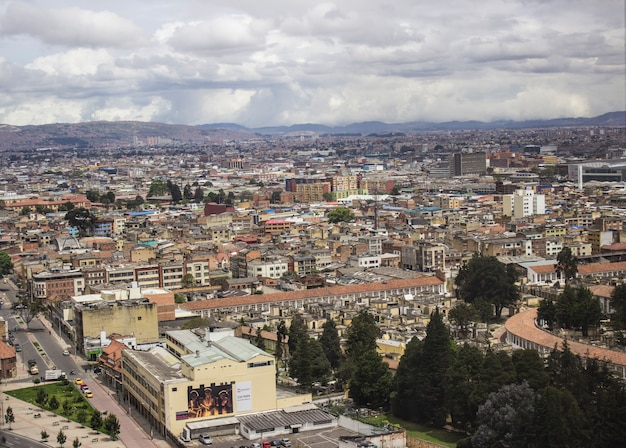 A cloudy day in the city of bogota, colombia