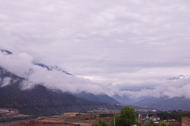 Cloudy day mountain in yunnan province, china