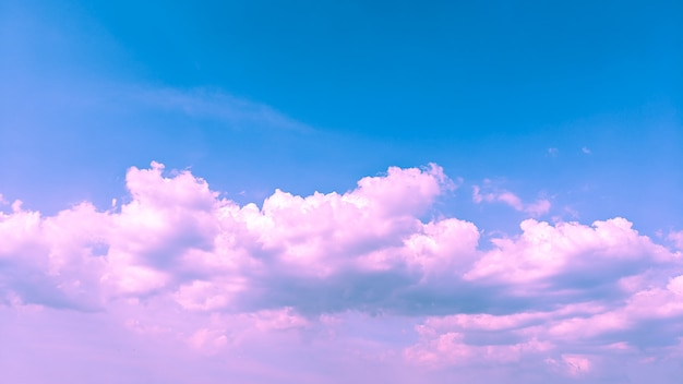 Cloudy pink and blue color background