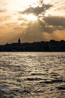Cielo nuvoloso a istanbul turchia