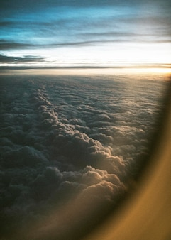 Cloudy view from the plane