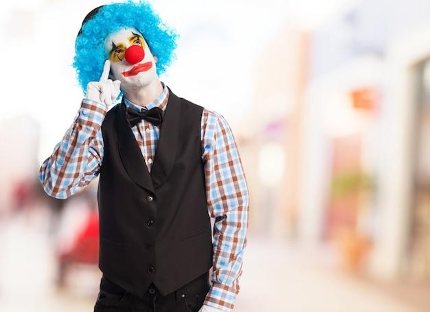 Clown doing like crying