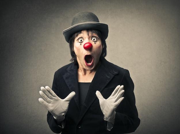 Clown making a surprise