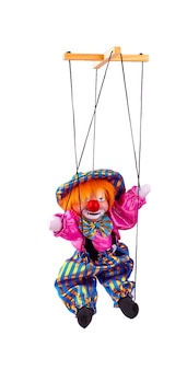 Clown puppet isolated