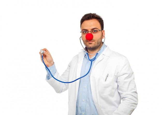 Clown young doctor