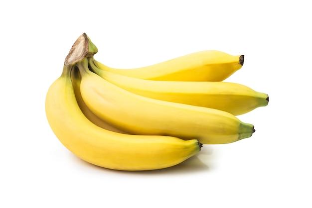 Группа бананов, изолированные на белом фоне