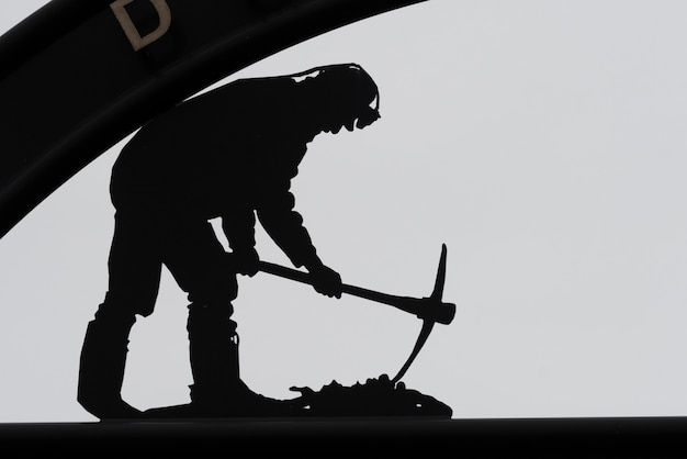 뉴 워터 포드, 케이프 브레튼 섬, 노바 스코샤, 캐나다에서 석탄 광부 동상