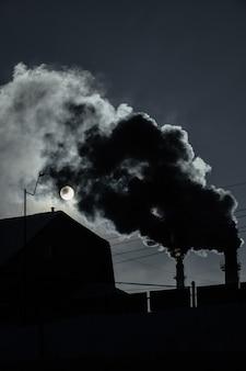 러시아 시베리아 셰레게시의 석탄 채굴 공장