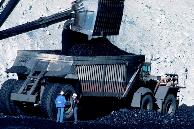 Добыча угля Premium Фотографии