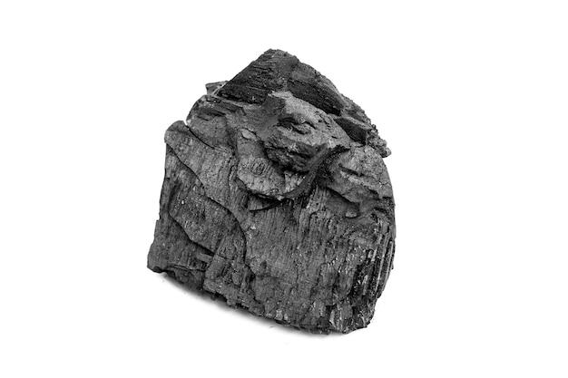 Уголь на белом
