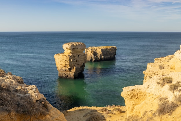 Coast of the algarve area in portugal.