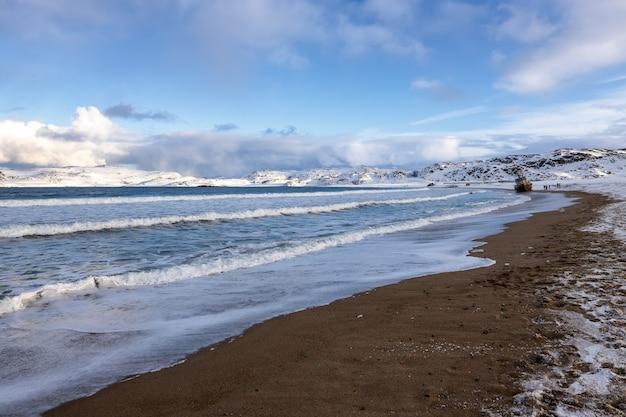 Coast of the arctic ocean, russia