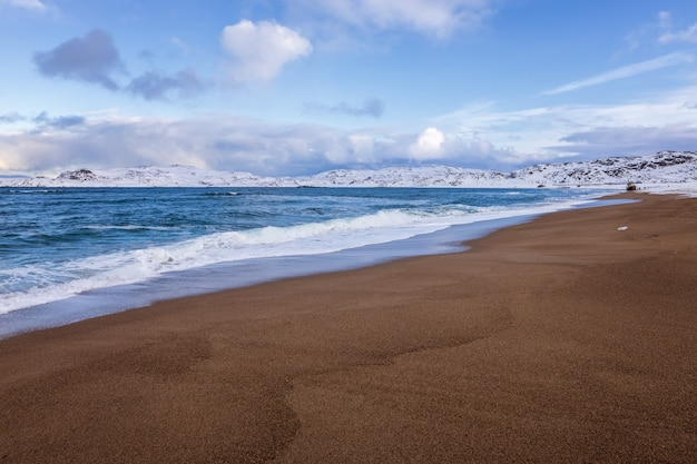 The coast of the arctic ocean, teriberka, russia
