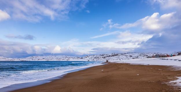 Coast of the barents sea, teriberka, russia