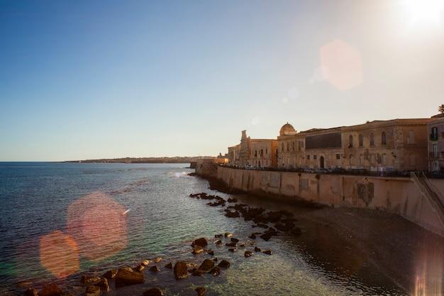 Coast of ortigia, syracuse