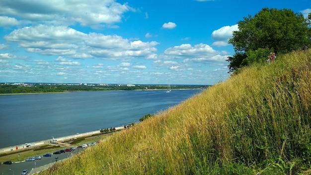 The coast of the volga river. nizhny novgorod