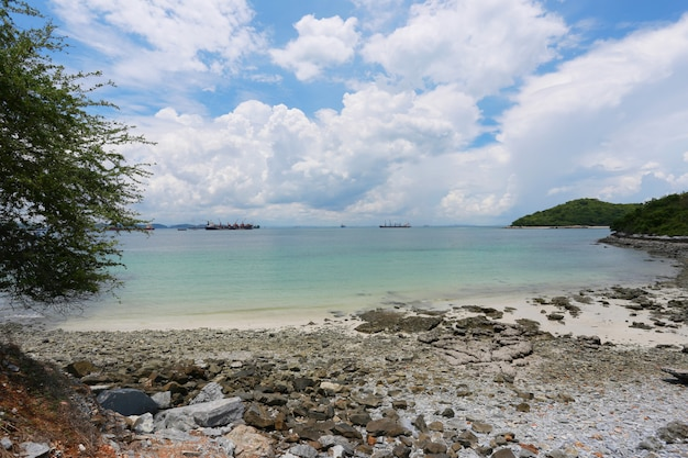 Coastal area of koh sichang in chonburi province, beautiful sea view.