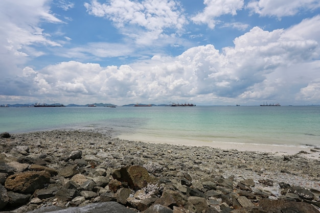 Coastal area of koh sichang in chonburi province,beautiful sea view.