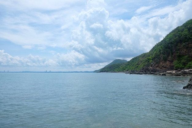 Coastal in chonburi province day time of tourist attractions in eastern thailand.