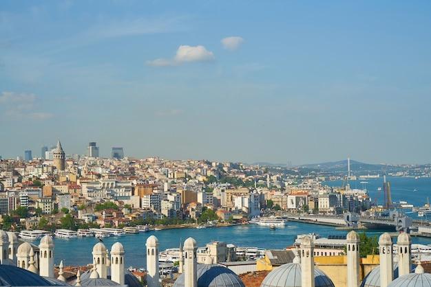 Coastal city seen from above