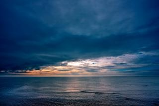 Coastal clouds   hdr  wide