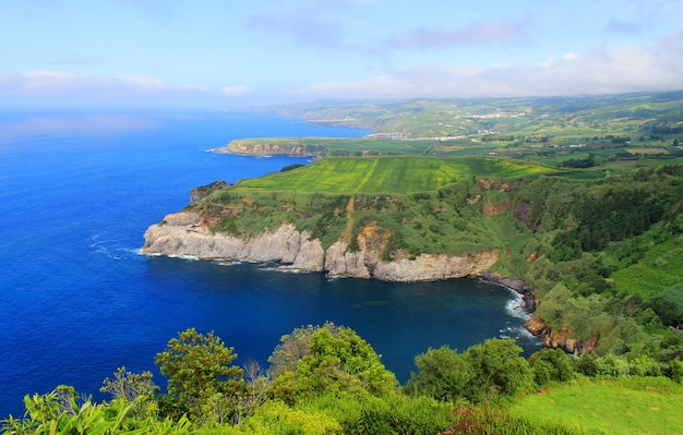 Coastal view in azores, portugal