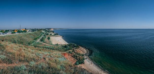 Coastline and beaches in ochakov, ukraine