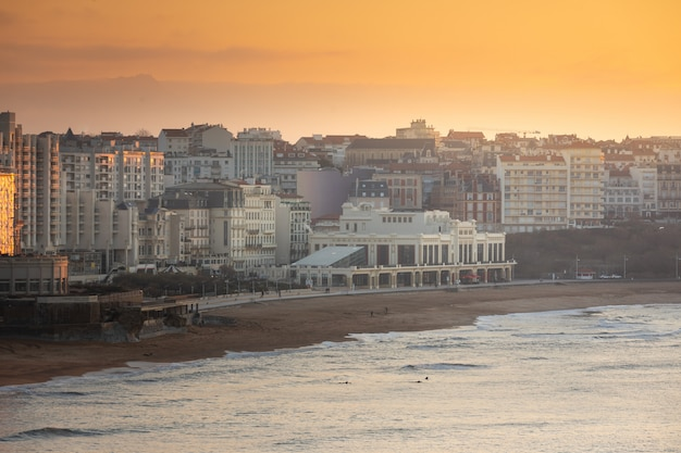Coastline of biarritz at the basque country.