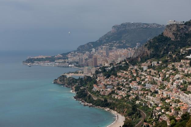 The coastline between roquebrune and monaco