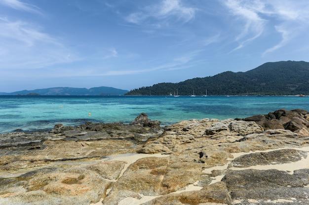 Coastline with tropical sea at lipe