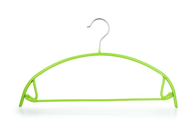 흰색 배경에 옷걸이 옷걸이 옷걸이 위와 내부 잠재적인 복사 공간