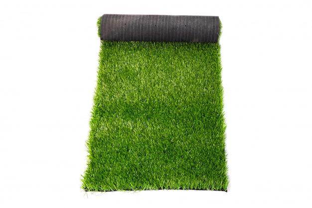Coating, roll of green grass, artificial grass.