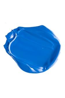 Косметическая текстура кобальта синяя красота, изолированные на белом фоне, размазанный мазок для макияжа или косметика ...