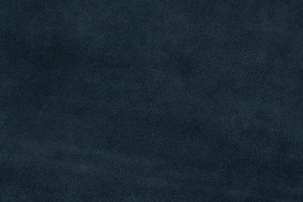 コバルトブルーの織り目加工のスエードレザーの表面の背景
