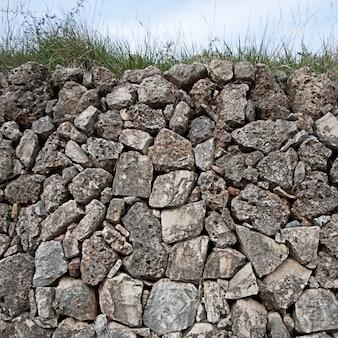 Булыжник каменная стена