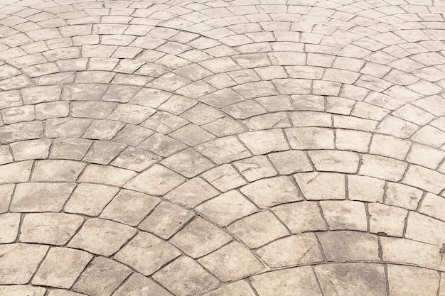 Cobblestone pavement.bedrock background texture.