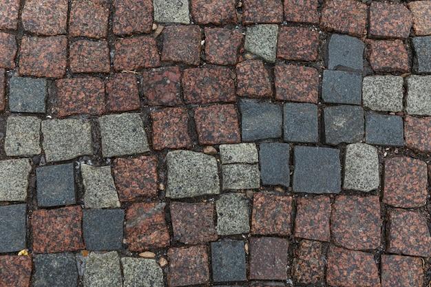 Cobblestone pavement texture. background. space for text.