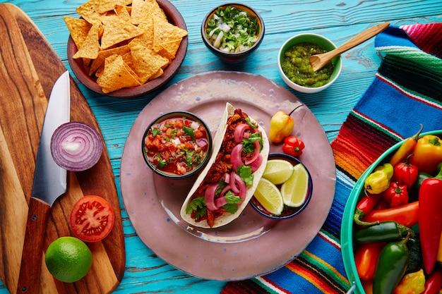 Cochinita pibilメキシコ料理とピコデギャロ