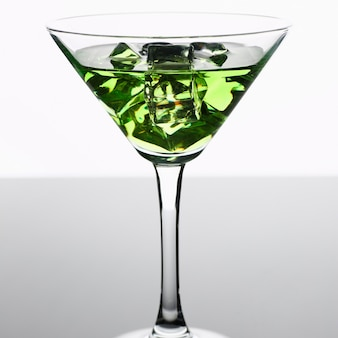 Cocktail absinthe with vodka in martini glass